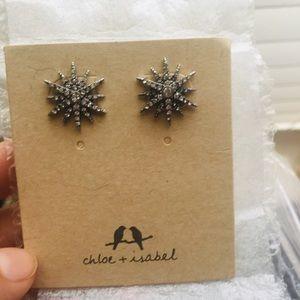 Starburst earrings Chloe and Isabel